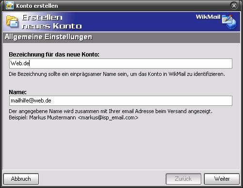 WikMail und Web.de