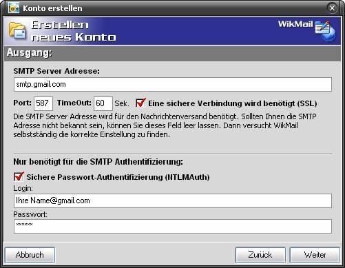 Mit WikMail Google Nachrichten versenden