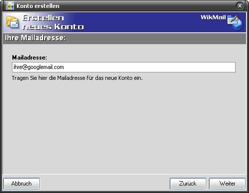WikMail und GMAIL