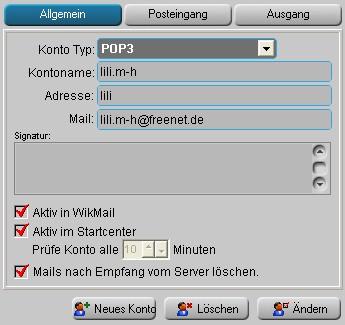 Freenet und WikMail
