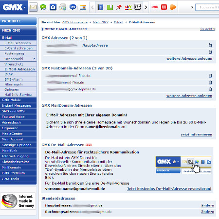 Gmx login mein de mail Free Email