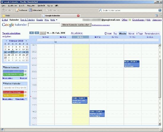 Google Kalender In Thunderbird Einbinden