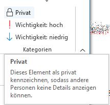 Outlook 2007 - 2019 und Offices 365 werden diese mit einem Schlosssymbol angezeigt.