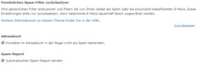 Automatischen Spam-Report senden