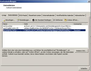 Das  aendern der-Standard-pst-Datei-zur-originalen-pst-Datei