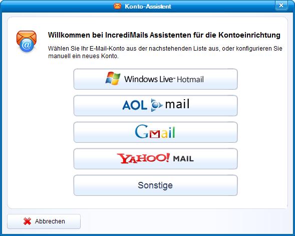 IncrediMail Assisent für t-online E-Mail ssl-einstellungen