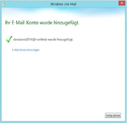 E-Mail-Konto ist hinzugefügt!