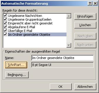 Kennzeichnen Sie Outlook Ordner in den Suchergebnissen mit einem Farbcode