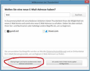 emailadresse-aussuchen