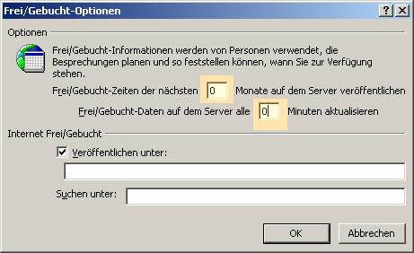 Die Frei-Gebucht-Informationen von Outlook komplett verbergen