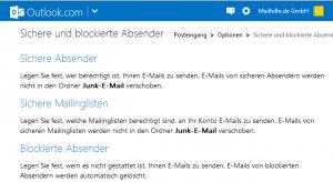 Synchronisation von Spam-Filtern für Outlook Accounts