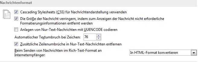 in html