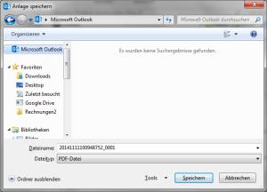 Browser-Fenster rmit Outlook-Symbol