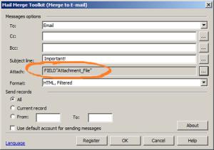 E-Mail als Serienbrief mit unterschiedlichen Anhängen.