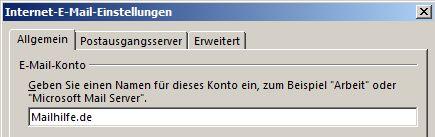 email-konto-umbennen