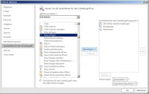 Den klassischen Befehl Datei anfügen