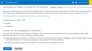 Verbindung mit Geräten und Apps mit POP herstellen