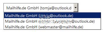 Ändern Sie Ihre standardmäßige Absenderadresse für Outlook.com