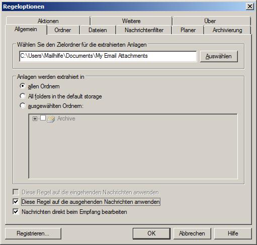 Outlook-Anhang-Prozessor-Optionen