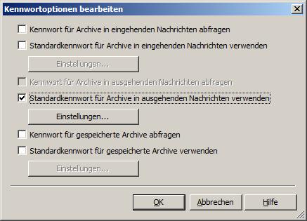 Passwort für Outlook-Nachricht festlegen