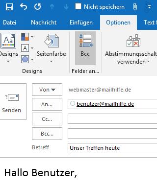 Send Personally for Outlook ersetzt E-Mail-Empfänger