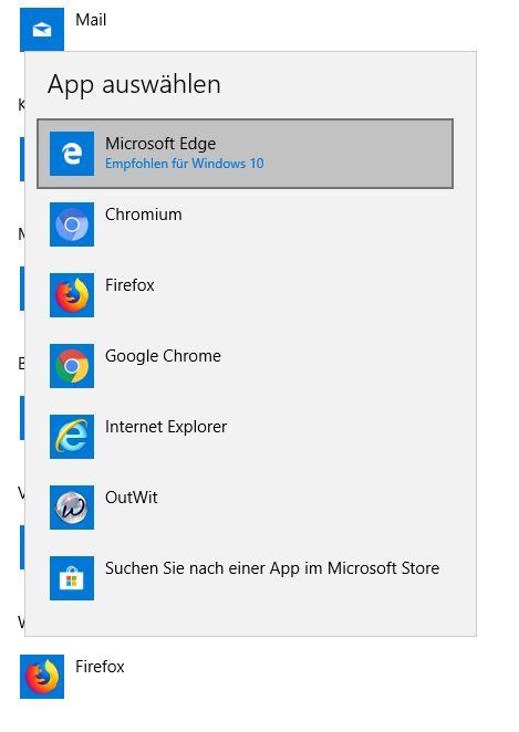 Wiederherstellen der Standardeinstellungen für die Dateizuordnung von Outlook und Edge